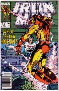 Iron Man   vol. 1  #231 FN (Stark Wars 7) Michelinie/Layton, new armor