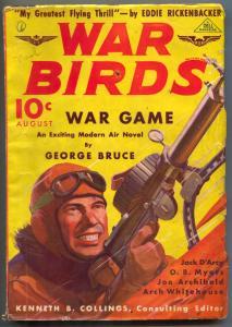 War Birds Pulp August 1936- Capt Eddie Rickenbacker VG