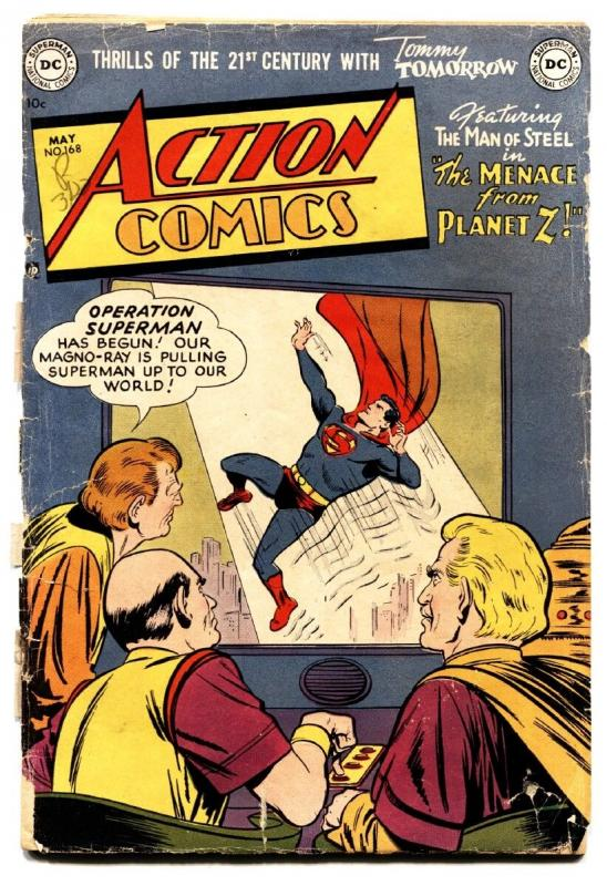 Action Comics #168 1952- Superman Congo Bill- DC golden-age
