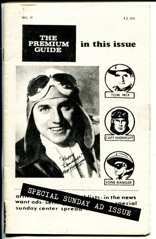 Premium Guide #8 1979-Hy Mandelowitz-Capt Marvel-Capt Midnight-Tom Mix-FN-