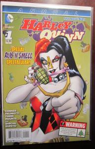 Harley Quinn (2014) Annual #1A, VF/8.5+ International Version with safe scent
