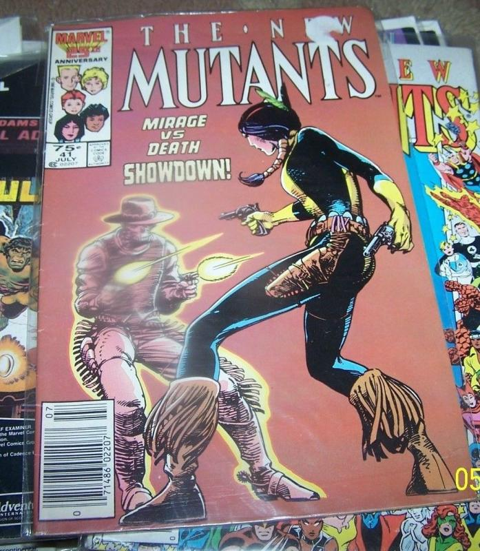 NEW MUTANTS  COMIC # 41   marvel   X MEN mirage vs death