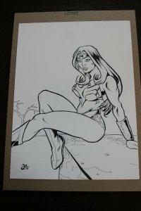 Wonder Woman Con Sketch Original Art (2003)