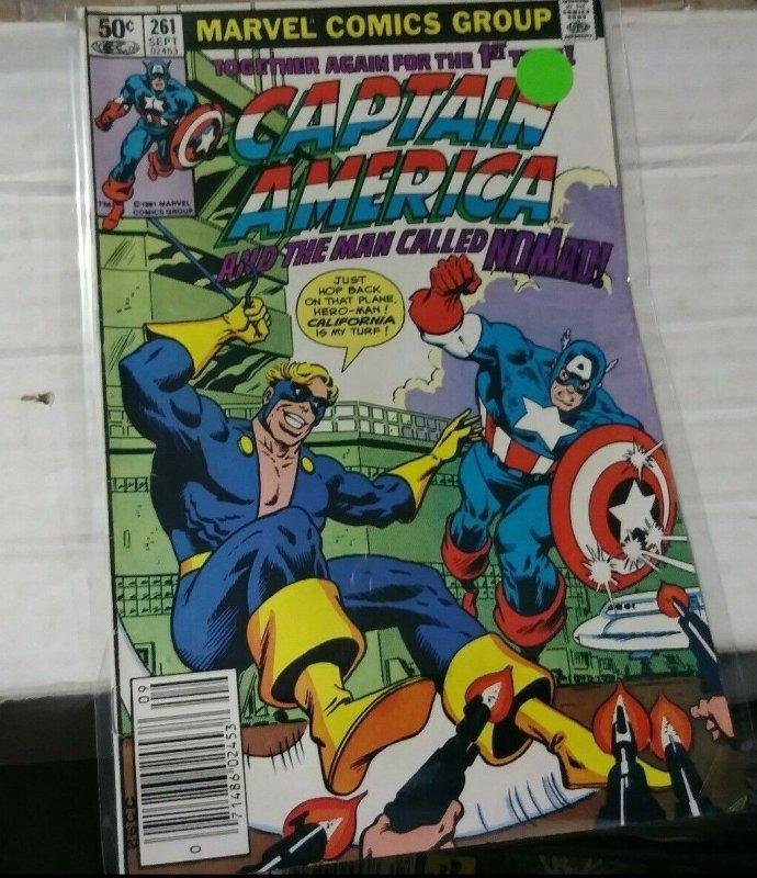 Captain America  # 261 1981 Marvel  NOMAD RETURNS RED SKULL BEAST AVENGERS