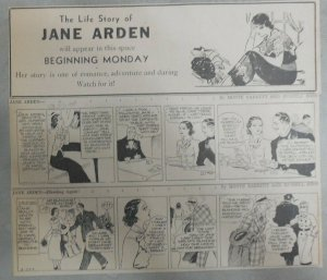 (50) Jane Arden Dailies by Ross from 2-3,1936  Size: 3 x 10 inches with Intro