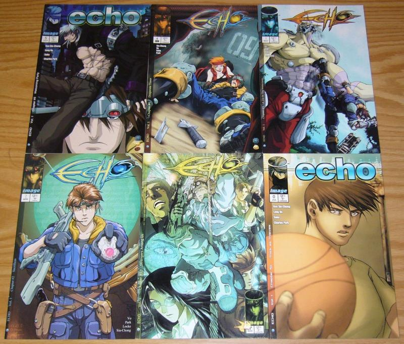 Echo #0 & 1-5 VF/NM complete series - image comics set lot 2 3 4