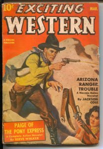 Exciting Western #3 3/1941-Thrilling-1st appearance Alamo Paige of Pony Expre...