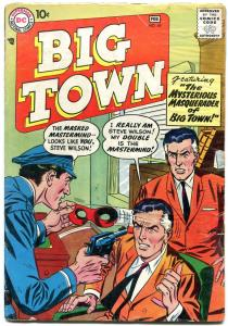 BIG TOWN #49 1958-DC COMICS-TV SERIES-MASK COVER-DC-very good minus VG-