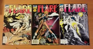 Flare 1-3 Complete Set Run! ~ NEAR MINT NM ~ 1988 Hero Comics