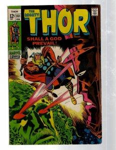 Mighty Thor # 161 FN/VF Marvel Comic Book Loki Odin Asgard Sif Avengers Hulk RB8