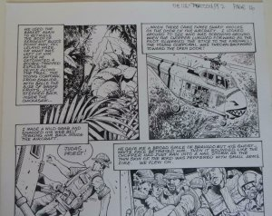 DON LOMAX Original Art, Vietnam Journal #8 pg 16, Brain Dead Horror,Caliber,2011