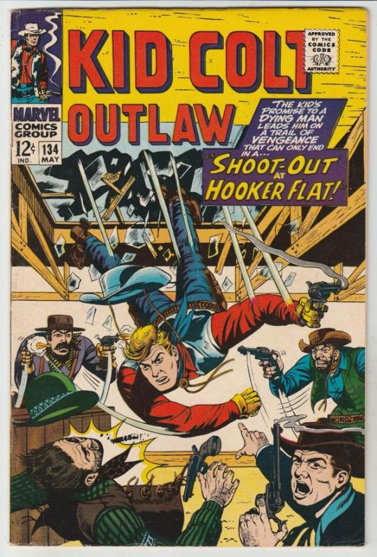 Kid Colt Outlaw #134 (May-67) VF+ High-Grade Kid Colt