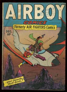 AIRBOY V.2 #11 1945 HILLMAN COMICS FIRST ISSUE SKY WOLF VG