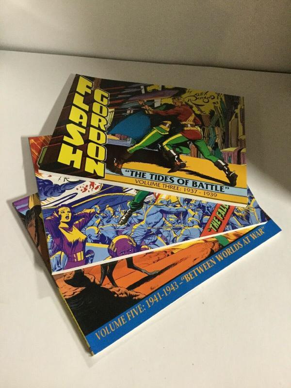 Flash Gordon Volume 3 4 5 Lot Oversized Sc Softcover Kitchen Sink B15