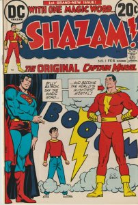 Shazam #1 First Issue DC 1973 Bronze Age Comic grade Fine