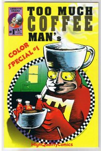 TOO MUCH COFFEE MAN Color Special #1, NM+, 1st, 1996, more indies in store
