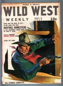 WILD WEST WEEKLY 8/15/1942-WESTERN PULP-RAWHIDE RUNYAN FN/VF