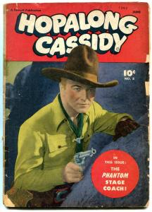 Hopalong Cassidy #8 1947- Golden Age Western Comic William Boyd