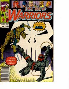 Lot Of 2 Comic Books Marvel New Warriors #7 and #10 Thor ON10