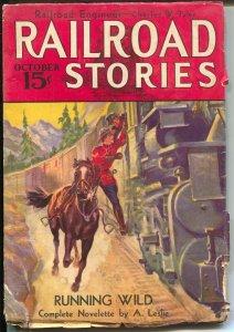 Railroad stories 10/1933-Mountie-RCMP-steam train-G