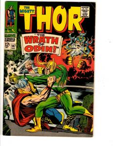 The Mighty Thor # 147 VF Marvel Comic Book Odin Loki Avengers Hulk Sif TW65