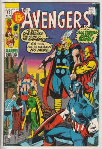 Avengers, The #92 (Sep-71) FN Mid-Grade Avengers