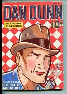 DAN DUNN DETECTIVE-#1-SEPT 1936-MYSTERY-PULP-SOUTHERN STATES PEDIGREE-vg minus