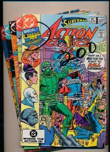 Set of 5-DC Action Comics #536-#540 SUPERMAN FINE/VERY FINE (SRU147)