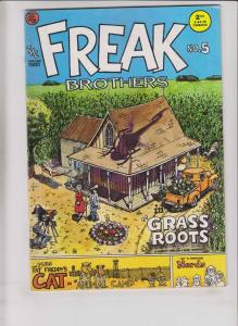 Freak Brothers #5 FN unknown printing not in guide - gilbert shelton underground