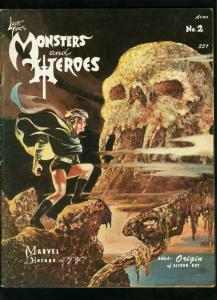 LARRY IVIE'S MONSTERS AND HEROES #2 1967-ALTRON BOY-EDGAR RICE BURROUGHS VG