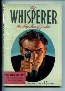 THE WHISPERER-#1-OCT 1940-MYSTERY-PULP-SOUTHERN STATES PEDIGREE-vf  minus