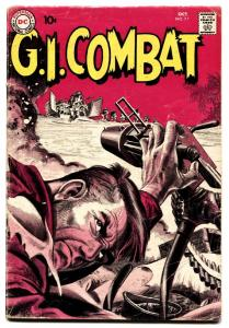 G.I. Combat #77 comic book 1959-DC-greytone cover-Joe Kubert-Russ Heath