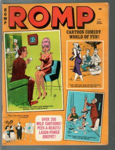 Romp 7/1970-Marvel-B=Dan De Carlo-Bill Ward-Wolverton-cheesecake pix-VF-