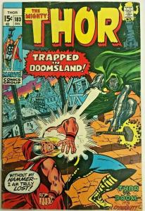 THOR#183 VG/FN 1970 VS DR. DOOM MARVEL BRONZE AGE COMICS