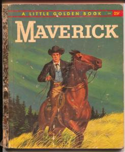 Maverick #354 1959-Little Golden Book-James garner TV show-G