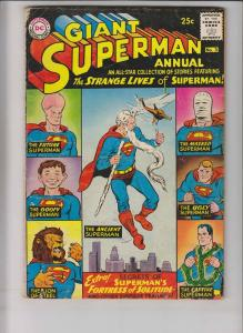 Superman Annual #3 VG- summer 1961 - strange lives of superman - ugly future