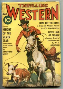 Thrilling Western March 1940-Knight of the Silver Star VG/F