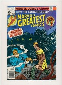 Marvel's Greatest Comics #72 Staring Fanastic Four FINE (088J)