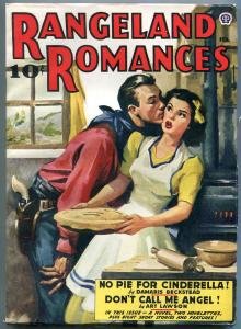 Rangeland Romances Pulp February 1942- Art Lawson- Damaris Beckstead