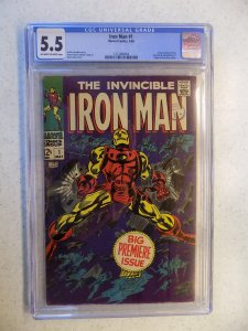 IRON MAN # 1 MARVEL ORIGIN RETOLD CGC 5.5 COLAN COVER