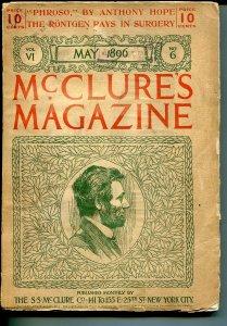 McClures  Magazine 5/1896-pulp forerunner-Abe Lincoln-Ida M Tarbell-VG