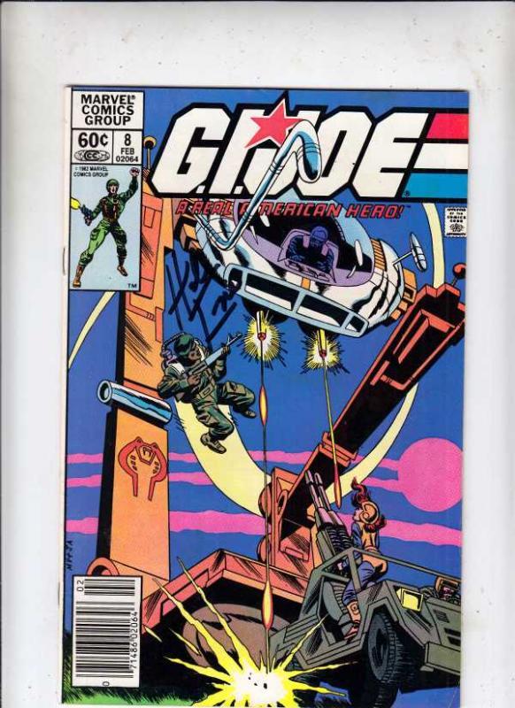 G.I. Joe signed #8 (Feb-83) VF/NM High-Grade G.I. Joe