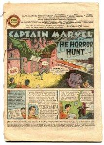 Captain Marvel Adventures #143 1953- coverless reading copy
