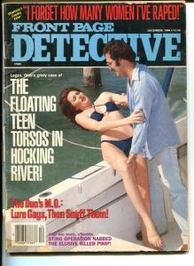 FRONT PAGE DETECTIVE-DEC 1984-G-HARD BOILED-SPICY-MURDER-RAPE-SNUFF-KNIFING G