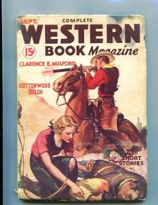 COMPLETE WESTERN PULP-SEPTEMBER-1934-COWBOYS-RED CIRCLE VG-