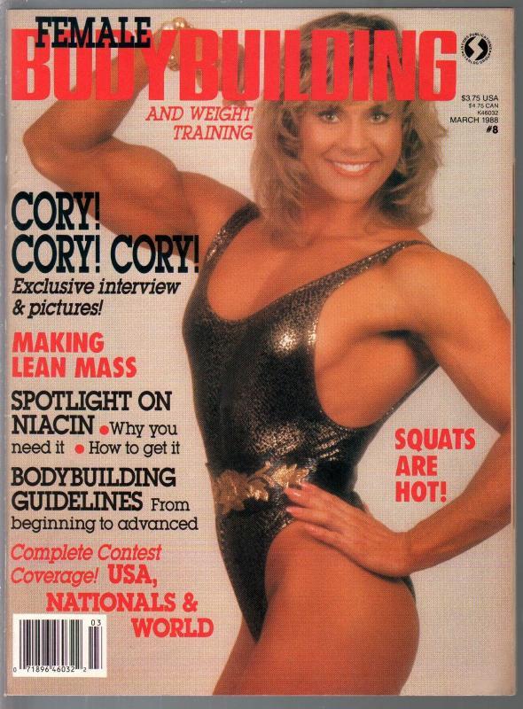 Female Bodybuilding #8 3/1989-Cory Everson-Bev Francis-Sue Ann McKerr-pix-info-V
