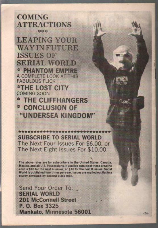 Serial World #16 1979-Undersea Kingdom-Video Ranger-Larry Stewart-VG