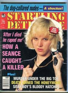 TRUE DETECTIVE-11/88-DOG-COLLARED NUDE-SEANCE JUSTICE-HONEYMOON DEATH FR/G