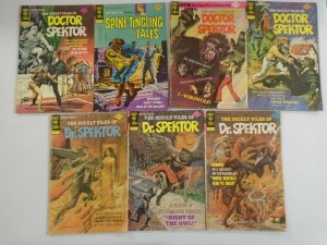 Doctor Spektor lot 7 different issues 4.0 VG (Gold Key)