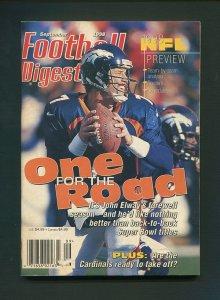 Football Digest / John Elway / September 1998